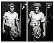 Bruce Springsteen backstage at Hammersmith Palais 1982