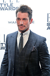 DAVID GANDY at the 17th Elle Style Awards 2014 in association with Warehouse held at One Embankment, 8 Victoria Embankment, London on 18th February 2014.