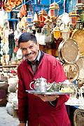 Fresh mint tea seller in the souq in Tunis, Tunisia