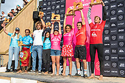 Winners and Runners up in the Boardmasters 2019 at Fistral Beach, Newquay, Cornwall, United Kingdom on 11 August 2019.