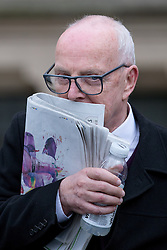 © Licensed to London News Pictures . 17/04/2014 . Manchester , UK . RAY TERET , Jimmy Savile 's former chauffeur and flatmate , leaves following a plea and case management hearing at Minshull Street Crown Court , Manchester , today (17th April 2014) . He is charged alongside William Harper and Alan Ledger with historic sex offences . Photo credit : Joel Goodman/LNP