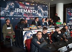 May 3, 2018 - London, London, United Kingdom - Bellew vs David Haye press conference. ...Tony Bellew vs David Haye press conference at Park Plaza hotel. (Credit Image: © Gustavo Valiente/i-Images via ZUMA Press)
