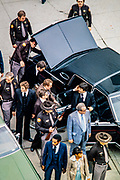 Larry Flynt Trial After being shot in Georgia, Hustler Magazine publisher Larry Flynt - in wheelchair - stands trial in 1979 on obscenity charges in Atlanta. Security expert Gavin DeBecker - in suit and sunglasses at Flynt's side - leads a protective detail as Flynt arrives and departs court. de Becker - now in 2019 - security chief for Amazon's Jeff Bezos, leads a team of investigators probing the American Media - National Enquirer case alleging extortion of Bezos - the world's richest man.