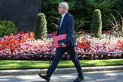 London, UK. 23 July, 2019. Stephen Barclay MP, Secretary of State for Exiting the European Union, arrives at 10 Downing Street for the final Cabinet meeting of Theresa May's Premiership. The name of the new Conservative Party Leader, and so the new Prime Minister, will be announced at a special event following the meeting.