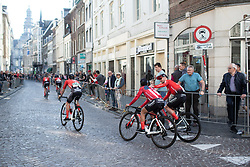 Coryn Rivera (USA) of Team Sunweb rides back to the team bus before the Amstel Gold Race - Ladies Edition - a 126.8 km road race, between Maastricht and Valkenburg on April 21, 2019, in Limburg, Netherlands. (Photo by Balint Hamvas/Velofocus.com)
