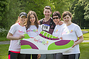NO FEE PICTURES<br /> 19/5/18 Hundreds of people of all ages lapped up the summer sunshine when they came out to support an important cause which is close to many of their hearts, organ donation, by taking part in the Irish Kidney Association's 'Run for a Life' family fun run which took place at Corkagh Park, Clondalkin, Dublin 22 on Saturday 19th May.   (www.runforalife.ie) Pictured Eavan Radavicius (centre) with Michelle, Maria, Mary and Catherine Quigley, Wheatfield, Rosscommon. Picture:Arthur Carron