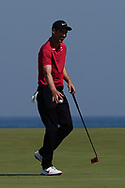 Ross Fisher (ENG) gets a birdie on the 9th during Round 3 of the Oman Open 2020 at the Al Mouj Golf Club, Muscat, Oman . 29/02/2020<br /> Picture: Golffile   Thos Caffrey<br /> <br /> <br /> All photo usage must carry mandatory copyright credit (© Golffile   Thos Caffrey)