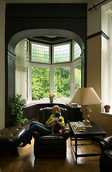 SPA, BELGIUM - AUGUST-19-2005 -  Relaxing in one of the many grand villas of Spa. This one was built in 1895. (Photo © Jock Fistick)
