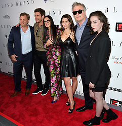 L-R: Director Michael Mailerctors Dylan McDermott, Demi Moore, Hilaria Baldwin and actors Alec Baldwin and Eden Epstein attend the NY premiere of Blind at the Landmark Sunshine Cinemas in New York, NY on June 26, 2017.  (Photo by Stephen Smith) *** Please Use Credit from Credit Field ***