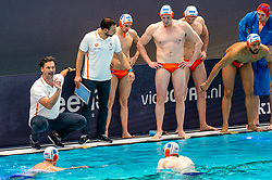 Coach Harry van der Meer of the Netherlands in action against France during the Olympic qualifying tournament. The Dutch water polo players are on the hunt for a starting ticket for the Olympic Games on February 17, 2021 in Rotterdam