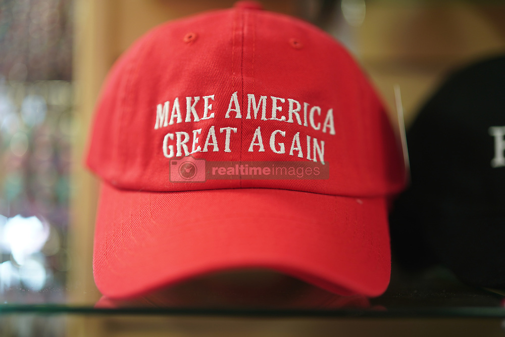 A Make America Great Again hat on sale in the White House gift shop in Washington DC in the United States. From a series of travel photos in the United States. Photo date: Thursday, March 29, 2018. Photo credit should read: Richard Gray/EMPICS