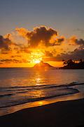 Sunrise, Kailua Beach, Lanikai, Mokolua Island, Oahu, Hawaii
