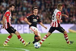 15-09-2015 NED: UEFA CL PSV - Manchester United, Eindhoven<br /> PSV kende een droomstart in de Champions League. De Eindhovenaren waren in eigen huis te sterk voor de miljoenenploeg Manchester United: 2-1 / Ander Herrera #21