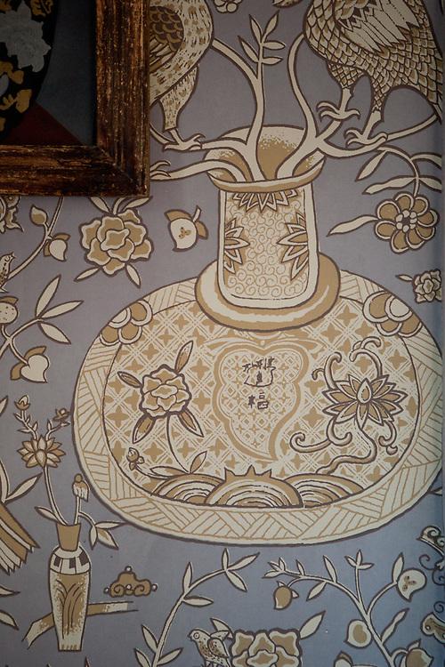 Wallpaper detail.  Private home of retired set designer.