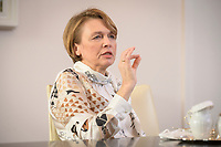 14 DEC 2020, BERLIN/GERMANY:<br /> Elke Buedenbender, Juristin und Gattin des Bundespraesidenten, waehrend einem Interview, Schloss Bellevue<br /> IMAGE: 20201214-01-012<br /> KEYWORDS: Elke Büdenbender, First Lady