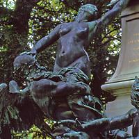 Bronze Sculpture dedicated to Eugene Delacroix in Paris's Lxembourg Gardens