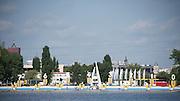 Poznan. Poland.General View of the start area. FISA 2015 European Rowing Championships. Venue Lake Malta. 29.05.2015. [Mandatory Credit: Peter Spurrier/Intersport-images.com]
