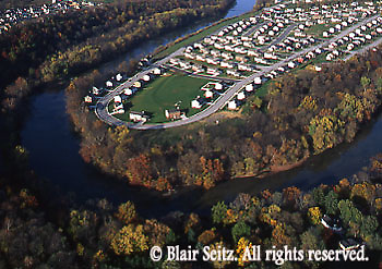 Southcentral Pennsylvania, Suburban Development, Conodoquinet Creek, Aerial Photographs, Cumberland County, PA