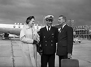 22/08/1958<br /> 08/22/1958<br /> 22 August 1958<br /> Mr J. F. Dempsey, General Manager, Aer Lingus leaving for Lourdes from Dublin Airport for the opening of the airport at Lourdes, France.