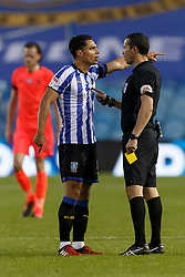 Joey Pelupessy of Sheffield Wednesday is shown a yellow card and is booked by referee Dean Whitestone - Mandatory by-line: Daniel Chesterton/JMP - 24/06/2020 - FOOTBALL - Hillsborough - Sheffield, England - Sheffield Wednesday v Huddersfield Town - Sky Bet Championship
