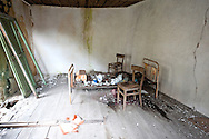 The village of Gornje Godinje, on the edge of Lake Skadar national park, was partially destroyed by the devastating earthquake of 1979, and has been largely abandoned. Some rooms have been left as they were at the time of the earthquake. Lake Skadar (Skadarsko jezero), Montenegro