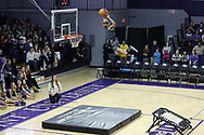 HIGH POINT, NC - JANUARY 06: Air Elite Dunkers performed during halftime. The High Point University of Panthers hosted the Charleston Southern University Buccaneers on January 6, 2018 at Millis Athletic Convocation Center in High Point, NC in a Division I men's college basketball game. HPU won the game 80-59.