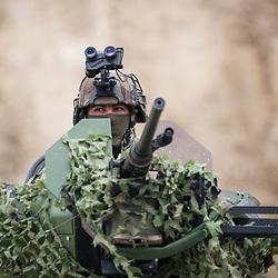 Présentations dynamiques organisées dans le cadre du salon Eurosatory 2018. Démonstrations présentées par des unités spécialisées du ministère des Armées (Armée de Terre, CFST).<br /> Juin 2018 / Villepinte (93) / FRANCE