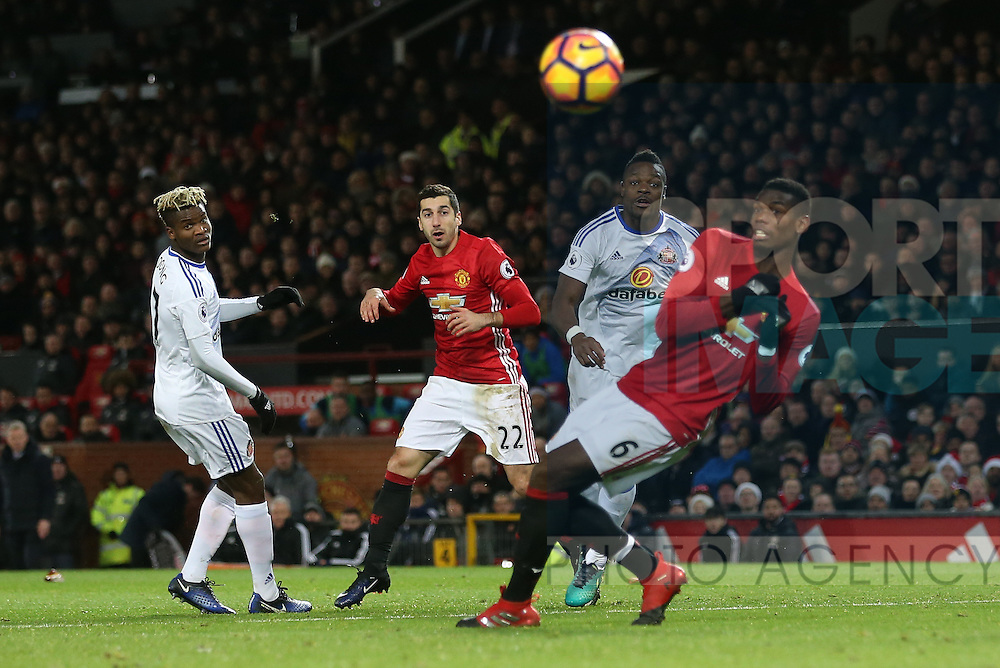 Manchester United's Hnerikh Mkhitaryan fires in a shot during the Premier League match at Old Trafford Stadium, London. Picture date December 26th, 2016 Pic David Klein/Sportimage