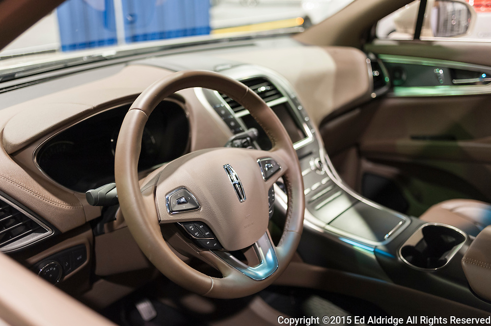 CHARLOTTE, NC, USA - November 11, 2015: Lincoln MKX on display during the 2015 Charlotte International Auto Show at the Charlotte Convention Center in downtown Charlotte.