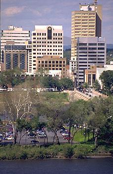 Harrisburg, PA, City Center Downtown Skyline, City Island, Penn Mutual Insurance Building