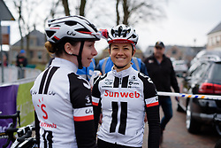 Ruth Winder secures a front row start at Drentse 8 van Westerveld 2018 - a 142 km road race on March 9, 2018, in Dwingeloo, Netherlands. (Photo by Sean Robinson/Velofocus.com)