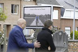 April 24, 2018 - Heist-Op-Den-Berg, FRANCE - Illustration picture shows the funeral ceremony for cyclist Michael Goolaerts, Tuesday 24 April 2018 in Hallaar, Heist-Op-Den-Berg. Michael Goolaerts died after a crash in the Paris-Roubaix race on Sunday 8 April 2018, he was 23 years old. BELGA PHOTO DIRK WAEM (Credit Image: © Dirk Waem/Belga via ZUMA Press)