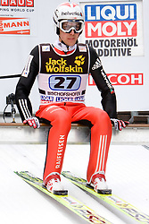 Simon Ammann (SUI) during Trial round of the FIS Ski Jumping World Cup event of the 58th Four Hills ski jumping tournament, on January 6, 2010 in Bischofshofen, Austria. (Photo by Vid Ponikvar / Sportida)