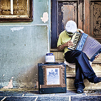Accordion player, Old San Juan, Puerto Rico