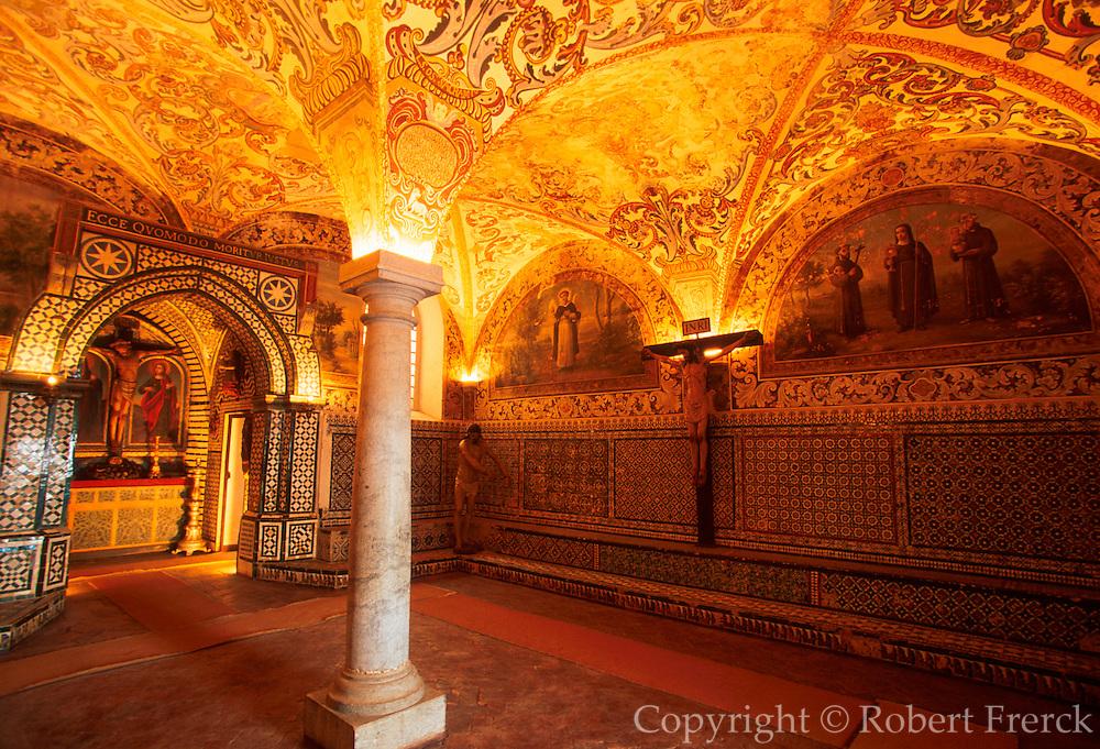 PORTUGAL, ALENTEJO AREA, BEJA Convento de Nossa Senhora da Conceicao; chapter house covered with 16th-17thc. tiles and murals