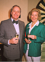 MR & MRS NEIL HAMILTON the former MP., at an exhibition in London on 14th September 1998.MJY 31