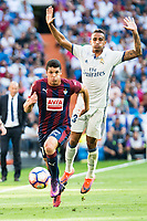 Real Madrid's player Danilo Luiz Da Silva and Eibar FC's player Ander Capa during a match of La Liga Santander at Santiago Bernabeu Stadium in Madrid. October 02, Spain. 2016. (ALTERPHOTOS/BorjaB.Hojas)