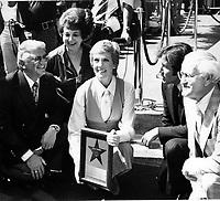 1979 Julie Andrews at her Hollywood Walk of Fame ceremony