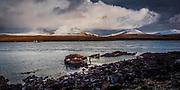 The wreck of Wyre Majestic, in The Sound of Islay near Bunnahabhain Distillery