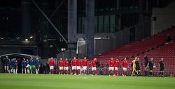 De to hold går på banen til UEFA Nations League kampen mellem Danmark og England den 8. september 2020 i Parken, København (Foto: Claus Birch).