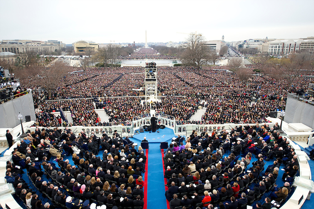 President Barack Obama addresses the crowd during the 57th Inauguration in Washington D.C., on January 20. 2013.