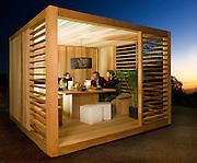 outdoor summer garden room ecocube ecospace