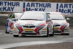 Car 2 - Matt Neal..British Touring Car Championship at Knockhill, Sunday 4th September 2011. .© pic Michael Schofield.