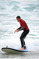 15 June 2013; Justin Tipuric, British & Irish Lions, during a surfing lesson on Bondi Beach. British & Irish Lions Tour 2013, Surfing at Bondi Beach, Bondi Beach, Sydney, NSW, Australia. Picture credit: Stephen McCarthy / SPORTSFILE