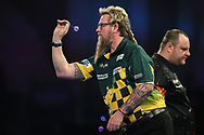 Simon Whitlock during his second round match with Ryan Joyce during the World Darts Championships 2018 at Alexandra Palace, London, United Kingdom on 19 December 2018.