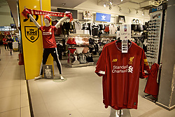 LIVERPOOL,  ENGLAND - Friday, May 31, 2019: LiverpoolFC merchandise on sale atLiverpool John. Lennon Airport ahead of the. UEFA Champions League Final between Tottenham Hotspur FC and Liverpool FC in Madrid. (Pic by David Rawcliffe/Propaganda)