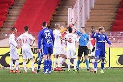 January 19, 2019 - Monaco, France - FRANCOIS LETEXIER (ARBITRE) - CARTON ROUGE (Credit Image: © Panoramic via ZUMA Press)
