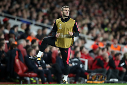 Arsenal's Jack Wilshere warms up during the Europa League match at the Emirates Stadium, London.