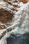 Lower Falls along Johnston Creek in Banff National Park, Alberta, Canada