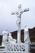 Religious figures crucifix at Healy Pass, Beara peninsula, County Cork, Ireland